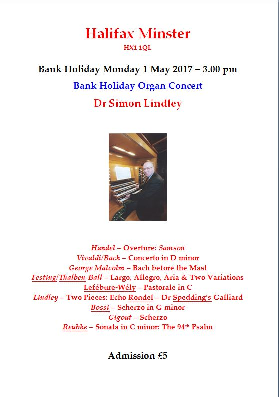 Simon's Bank Holiday Concert 2017