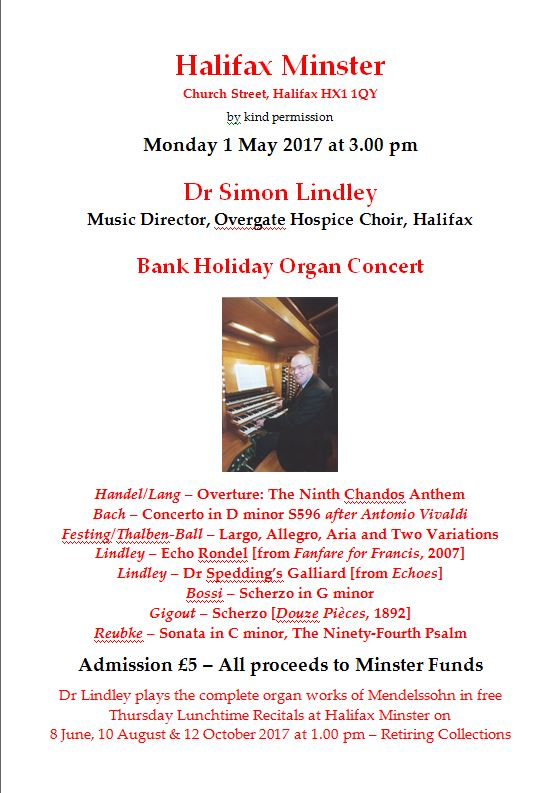 May Bank Holiday Recital 2017